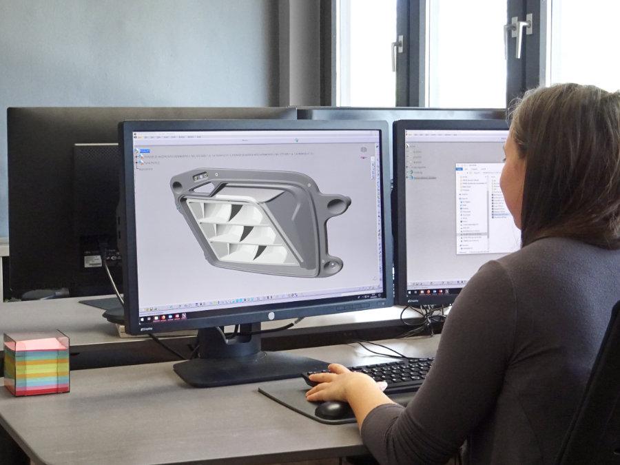 CAD Konstruktion Zusatzscheinwerfer BMW M8 GTEBMW